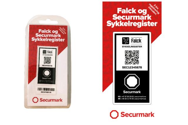 Falck Securmark sykkelregistrering