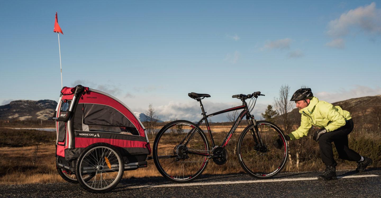 Nordic Cab sykkelvogn pulk multisportsvogn