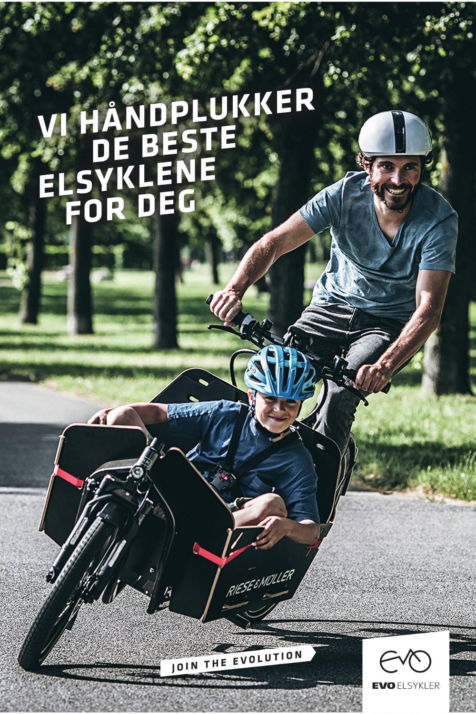 Vi håndplukker de beste elsyklene for deg EVO Elsykler